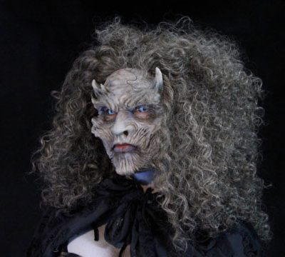 Night Queen, Silicone Half Mask Female White Walker
