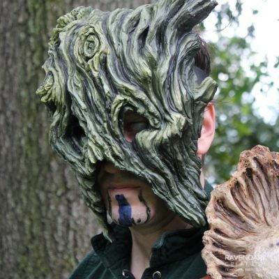 Green Man Tree Spirit Mask